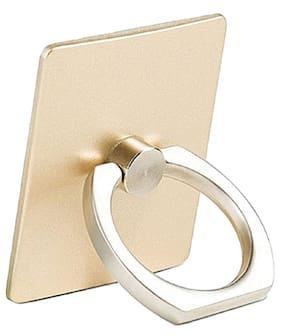 Fedus 360 Degree Rotating Finger Ring Mobile Holder Stand for Mobile Phones & Tablets( Gold Colors )