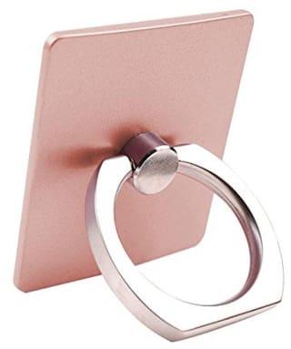 Fedus 360 Degree Rotating Finger Ring Mobile Holder Stand for Mobile Phones & Tablets( Rose Gold Colors )