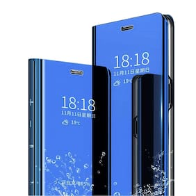 Samsung Galaxy M31 Glass & Polycarbonate Armor Case & Back Cover By EXOTIC FLOURISH ( Blue )