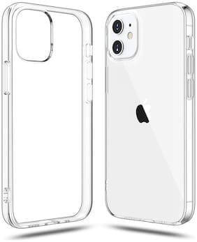 Fokatkart Silicone Transparent Back Cover For iPhone 12 Pro Max (6.7)