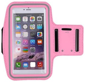 FOKATKART Polyester Back Cover For Universal ( Pink )