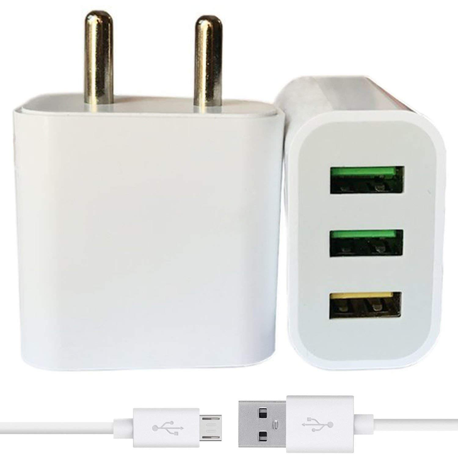 FPR 2.4 A Multi Pin Charger   3 USB Ports