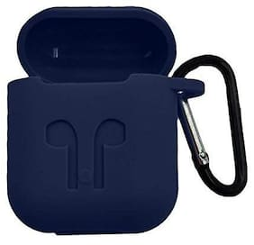 Freckle Silicone Shock Proof Protection Cover Case for Apple AirPods 1& 2 Wireless Headset Earphone (Blue)