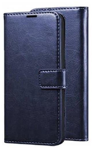 Frequently Flip Cover for Mi Redmi 8A Dual Rexine,Faux Leather  (Cherry, Dual Protection)