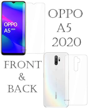 Front And Back Screen Guard For Oppo A5 2020/Hammer Proof Unbreakable Buff Guard Screen Protector(Not A Normal Tempered Glass) For Oppo A5 2020(Front And Back) (Transparent)