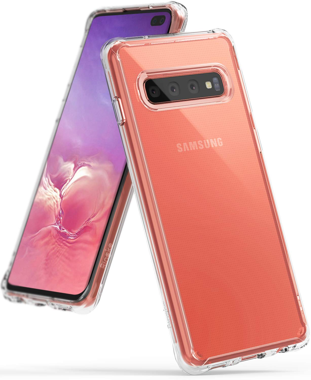 Ringke Plastic Back Cover For Samsung Galaxy S10 Plus ( Transparent )