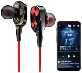 GadgetX GADGETX-4DHEAD-G5 In-Ear Wired Headphone ( Black & Red )