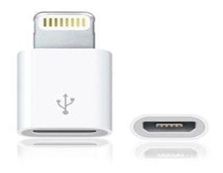 Galatea Micro USB to Lightning 8pin Charger Adapter Converter For iPhone White