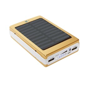 GAV 13000 mAh Solar Power Bank - Gold