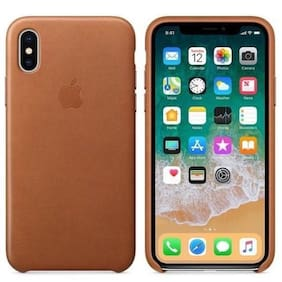 Genuine OEM Apple iPhone X/XS Leather Case Saddle Brown MQTA2ZM/A NEW