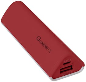 Gizmobitz GB/Gecko/Red 2600 mAh Fast Charging Power Bank - Red