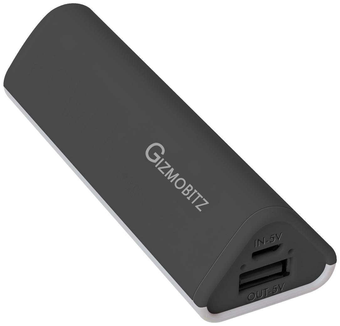 Gizmobitz  GB/Gecko/Black 2600 mAh Portable Fast Charging Power Bank   Black