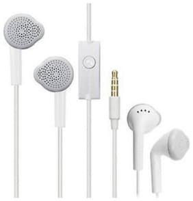 Buddies Cart 100% original genuine samsung yS for vivo/opo/mi Wired Headset with Mic  (White  In the Ear)