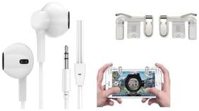 Glowtronix pubg In-Ear Wired Headphone ( White )