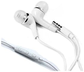 Buddies Cart Samsung eo-ig955 earphones tuned by yr for note 7/s10/s9/a7/a9/a8s/a8+/m30/m50 In-ear Wired Headphone ( White )