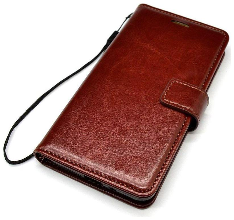 Gohaps Leather Back Cover For Apple iPhone 6   Brown
