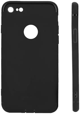 Gohaps Protective Back Matte TPU Soft Rubber Silicone Black Case Cover Phone Case for Apple iPhone 7