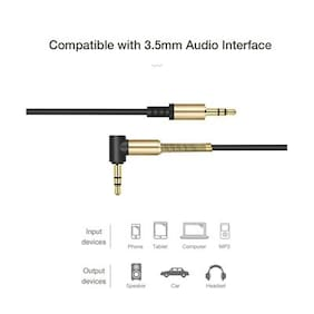 Gold-plated 3.5mm Male to Male Audio Cable 1M