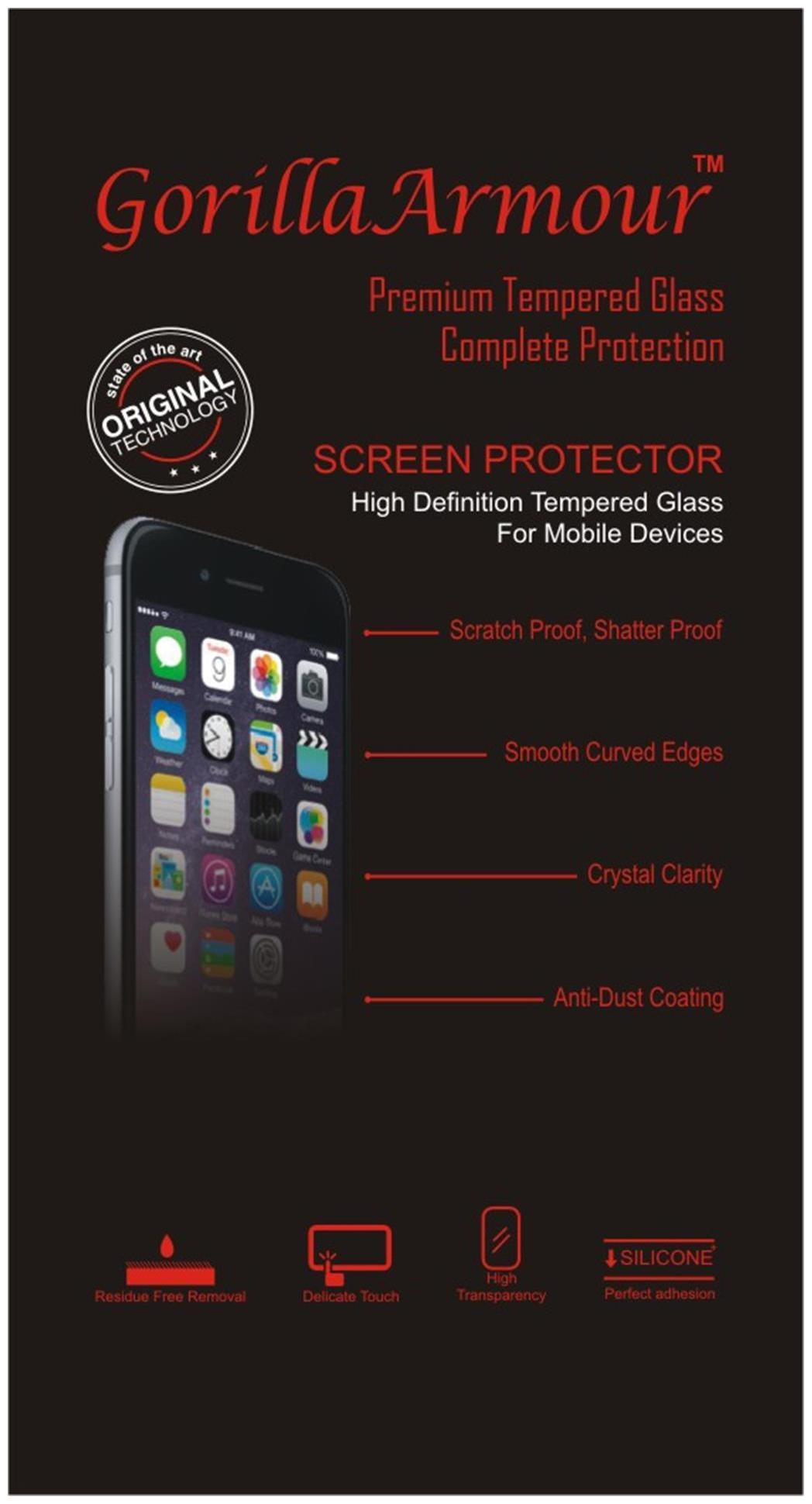 Gorilla Armour Premium Tempered Glass for Samsung Galaxy S7 Edge  by TheWholeSellers
