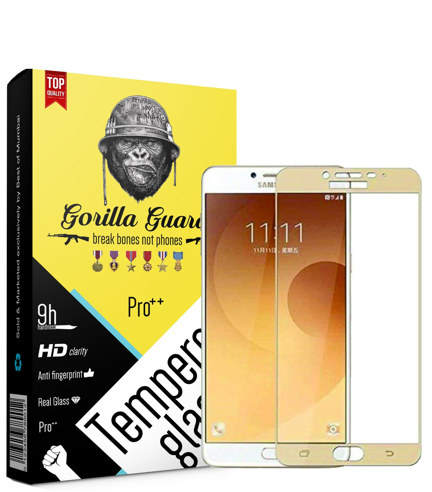 Gorilla Guard Tempered Glass For Samsung Galaxy C9 Pro