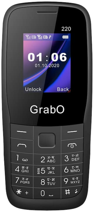 Grabo G220, 1.8 inch Display with vibration features phone  (BLACK)