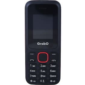 Grabo G200, 1.8 inch Display with vibration features phone  (BLACK+RED)
