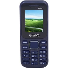 Grabo G310, 1.8 inch Display with vibration features phone  (BLUE)