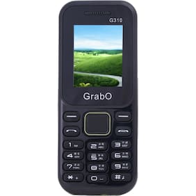 Grabo G310, 1.8 inch Display with vibration features phone  (BLUE+GREEN)