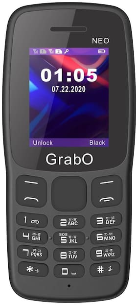 Grabo NEO, 1.8 inch Display with vibration features phone  (BLACK)