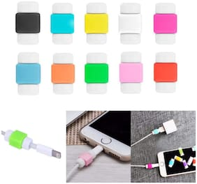 Gurnoor Creation Cable Protector Saver for Charging Cables & Earphones Cables (Pack of 10) Assorted Color