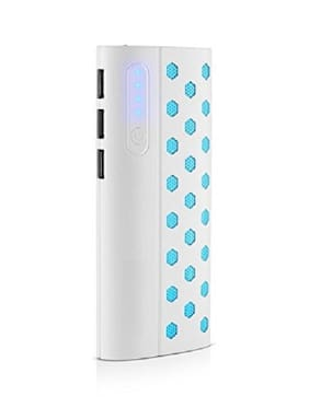 HAMINE New Dotted 20000 mAh Portable Power Bank - White