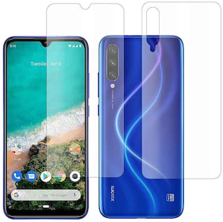 Hammer Proof Flexible Fiber Screen Protector Made with Unbreakable Impossible Fiber [ Not a Tempered Glass ] Screen Guard Compatible for Mi A3 Front Back