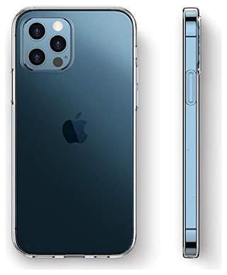 High Twist Silicone Back Cover For Apple iPhone 12 Pro ( Transparent )