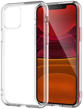 High Twist Silicone Back Cover For Apple iPhone 11 ( Transparent )