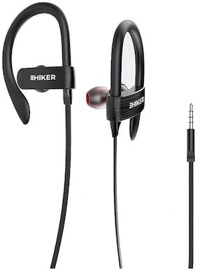 Hiker ES-160i Sound Hook Sports Wired Earphones In-Ear Wired Headphone ( Black )