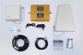himster 2G And 3G Dual Band Cell Phone Signal Booster kit For Home,Office & Industrial Sheds,Cover Up To 1600 Sq. Ft.