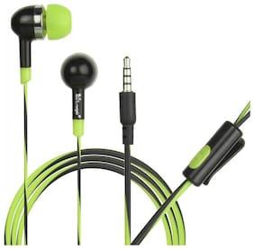 HITAGE Enjoy music Earphone In-Ear Wired Headphone ( Green & Black )