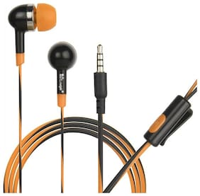 HITAGE Enjoy music Earphone In-Ear Wired Headphone ( Orange & Black )