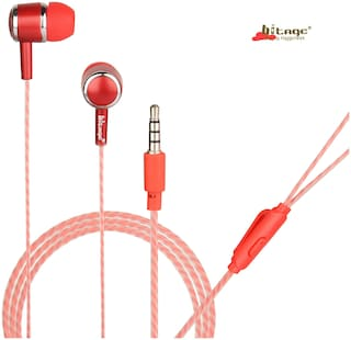 HITAGE HP315RD In-Ear Wired Headphone ( Red )