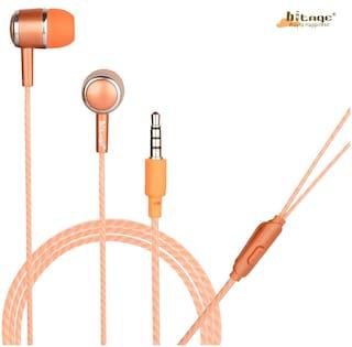 HITAGE HP315OE In-Ear Wired Headphone ( Orange )