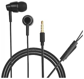 HITAGE 2 IN 1 Mad Angle Earphones In-Ear Wired Headphone ( Black )