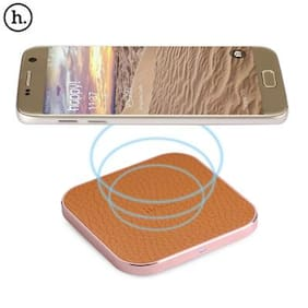 HOCO CW2 PU Leather Aluminum Alloy Frame Qi Wireless Charger for Qi-enabled Devices # International Bazaar
