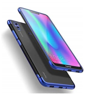 shopyholik Silicone Back Cover For Honor 8C ( Blue )