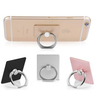 Hoteon 3600 Rotation Phone Finger Ring Stand Holder Compatible with Almost All Phones/Cases (Random color)