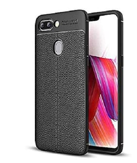 Hoteon Back Cover For OPPO A3s (Black)