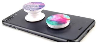 Hoteon PopSockets: Collapsible Grip & Stand for Phones and Tablets (Random color)