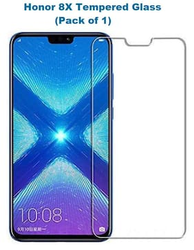 HUAWEI HONOR 8X Tempered Glass (Pack of 1)