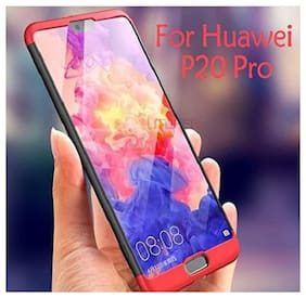 Huawei P20 Pro/Honor P20 Pro Case 3 in 1 360 Degree Anti Slip Super Slim Back Cover for Honor P20 Pro/Huawei Honor P20 Pro  (Black & Red)