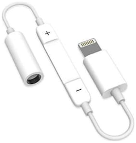 I-Birds Enterprises 2 in 1 Lightning Charging With 3.5 mm Audio Headphone Jack Adapter Headphone Extension 8 Pin (Lightning) to 3.5 mm Cable ( 0.1 m , White )