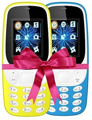 I KALL K3310 Combo (Yellow & Sky Blue) Mobile